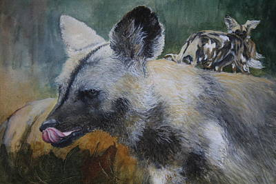 Licking Painting - Natures Palette  by Jan Lowe