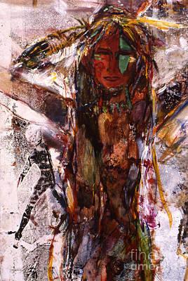 Naughty Lady Of Santa Fe Art Print by Charles B Mitchell