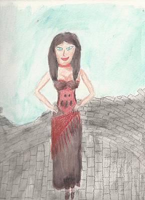 Naughty Sorceress Art Print