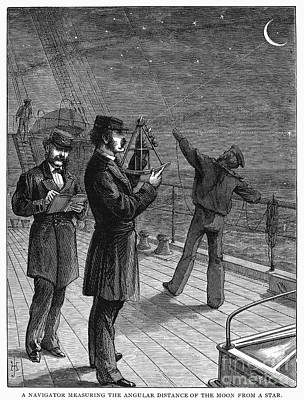 Navigation, 1871 Art Print by Granger