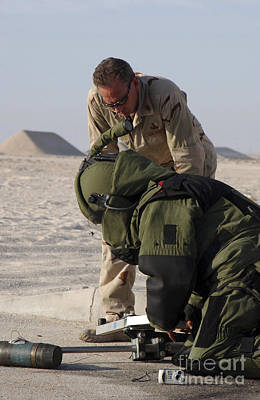 Improvised Explosive Device Photograph - Navy Explosive Ordnance Disposal Mobile by Stocktrek Images