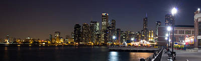 Sky Line Photograph - Navy Pier And Downtown Skyline by Twenty Two North Photography