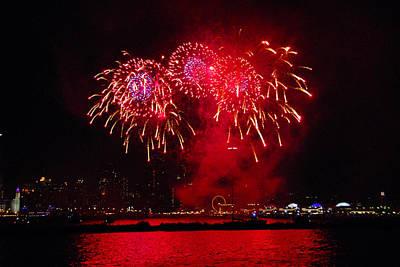 Photograph - Navy Pier Fireworks 3 by Lynn Bauer