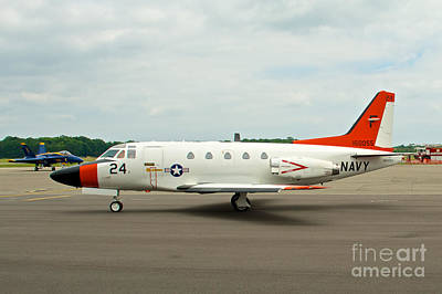 Photograph - Navy T-39 Saberliner by Mark Dodd