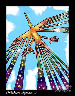 Condor Digital Art - Nazca Condor by Rebecca Stephens