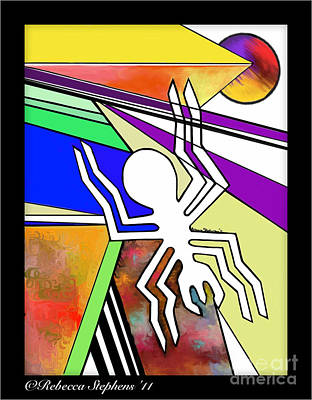 Nazca Spider Art Print by Rebecca Stephens