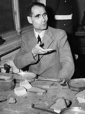 Nazi War Criminal Rudolph Hess Eating Art Print by Everett
