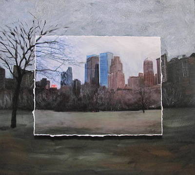 Mixed Media - Ncy Central Park Layered by Anita Burgermeister