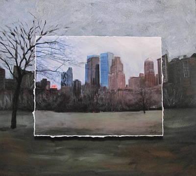 Ncy Central Park Layered Art Print by Anita Burgermeister