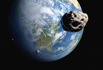 Near-earth Asteroids, Artwork Art Print by Detlev Van Ravenswaay
