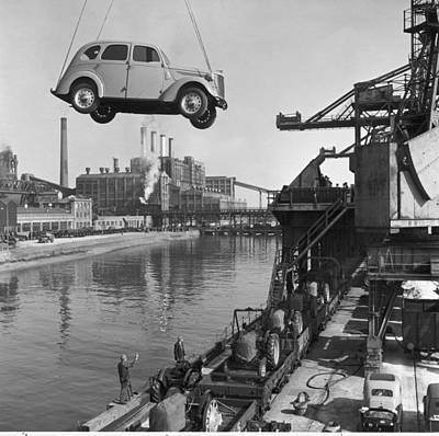 Transportation Of Goods Photograph - Near London.  The Ford Motor Plant by B. Anthony Stewart