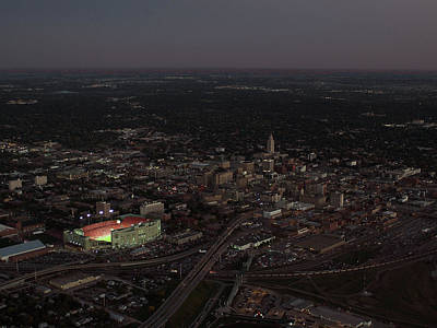 Nebraska Memorial Stadium And Campus Art Print by PRANGE Aerial Photography