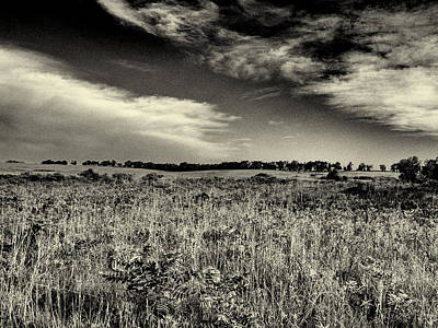 Photograph - Nebraska Prairie Two In Black And White by Joshua House