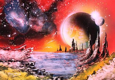 Nebula Storm Art Print by Tony Vegas