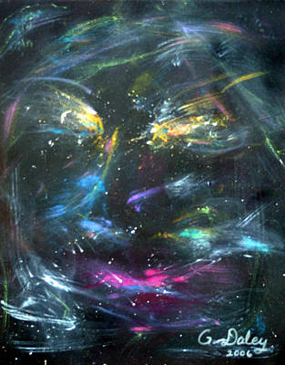 Gail Daley Wall Art - Painting - Nebula's Face by Gail Daley