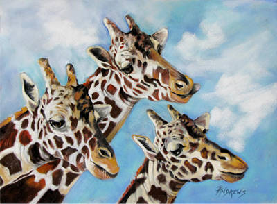 Art Print featuring the painting Neck And Neck by Rae Andrews