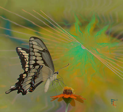 Blue Swallowtail Painting - Nectars Ecstasy by  Fli Art