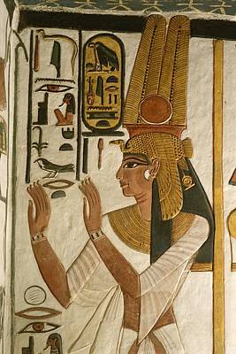 Nefertari Tomb Scenes, Valley Art Print by Kenneth Garrett