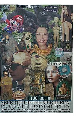 What Is Life Mixed Media - Nefertiti Of The Nile Queen Plays With Economy Green by Francesco Martin