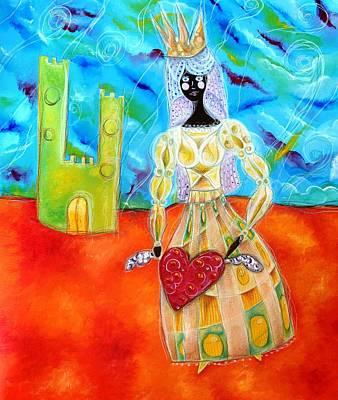 Hada Painting - Negra Princesita by Patricia  Quinche