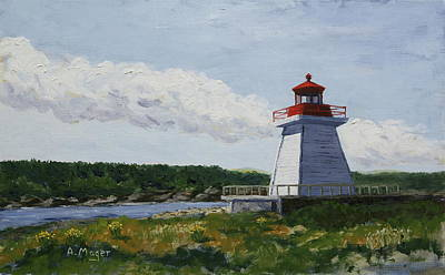 Painting - Neil's Harbor Light by Alan Mager