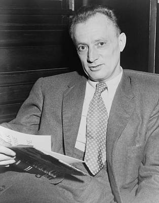 2008-2 Photograph - Nelson Algren 1909-1981, Holding Copy by Everett