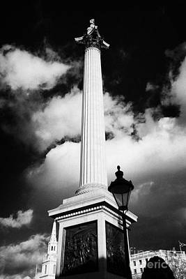 nelsons column in Trafalgar Square London England UK United kingdom Print by Joe Fox