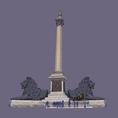 Nelson's Column, Trafalgar Square, London Art Print by Simon Carter
