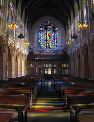 Communion Photograph - Neo Gothic Nave At St Dominic's Cathedral - San Francisco by Daniel Hagerman