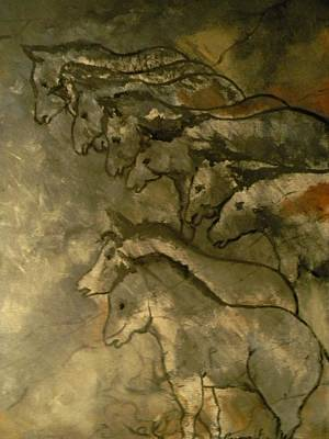 Neolithic Horses Art Print by John Connaughton