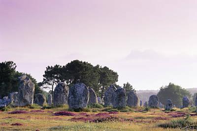 Megalith Photograph - Neolithic Stone Alignments by David Nunuk