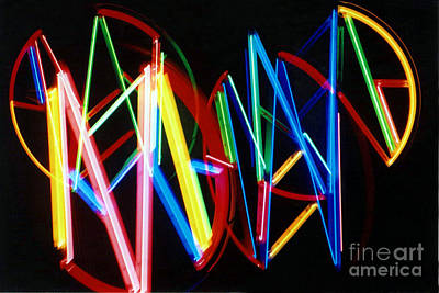 Photograph - Neon Abstract by Susan Stevenson