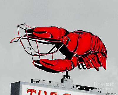 Digital Art - Neon Crawfish On Hwy 61 Baton Rouge by Lizi Beard-Ward