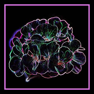 Photograph - Neon Flowers by Angie Tirado