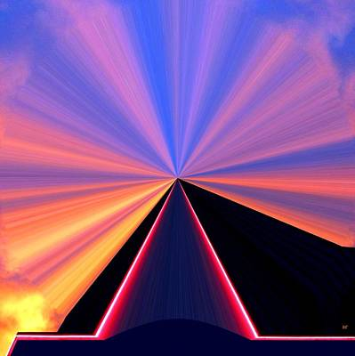 Digital Art - Neon Pinnacle by Will Borden