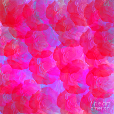Digital Art - Neon Roses by Susan Stevenson