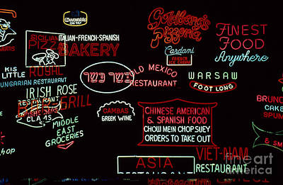 Neon Signs, 1937-1971 Art Print by Granger