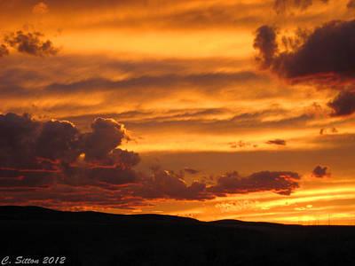 Photograph - Neon Sky by C Sitton