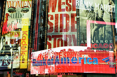 Neon Stories Of Times Square Art Print by Travelif