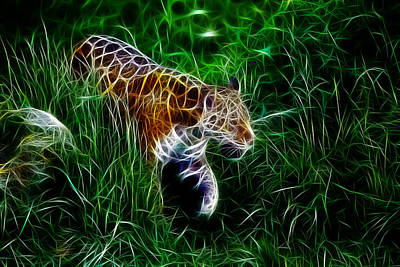 Neon Tiger Art Print by Steve K