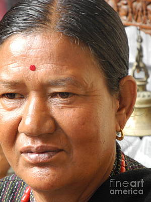 Photograph - Nepali Woman by Pauline Margarone