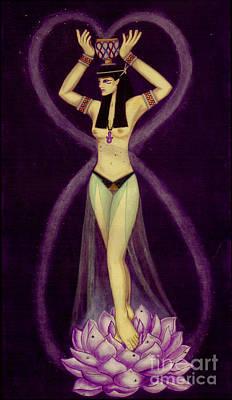 Egyptian Goddess Isis Painting - Nephtys by Diveena Seshetta