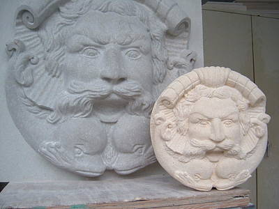 Sculpture - Neptun Head For Fountain by Memo Memovic