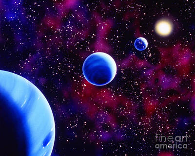Neptune And Uranus Art Print by Granger