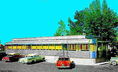 Painting - Neptune Diner In Neptune N J In The 1950's by Dwight Goss