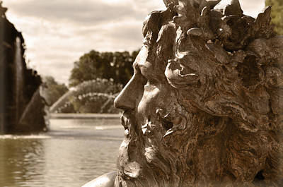 Roman Statue Photograph - Neptune by Mary Machare