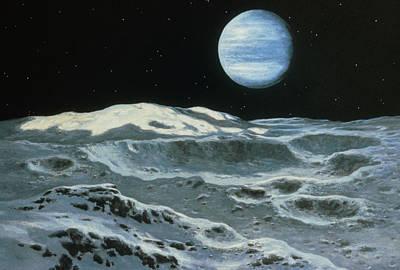 Neptune Seen From Triton Art Print by Ludek Pesek