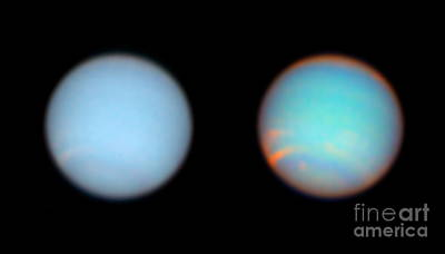 Neptune, True-colour And Filtered Views Art Print by Space Telescope Science Institute / NASA