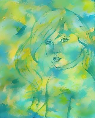 Nerissa  Daughter Of The Sea Art Print