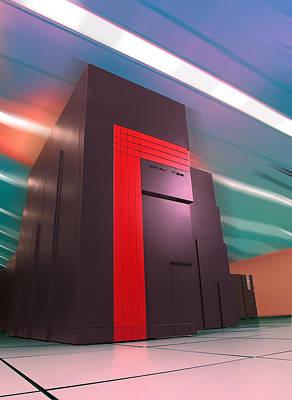 Nersc Supercomputer Art Print by Lawrence Berkeley National Laboratory